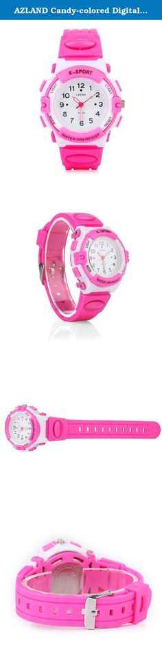 AZLAND Candy-colored Digital Quartz Sports Watch for Children,Arabic Numerals Dial girls watches,Pink Silicon Strap. -Diameter of dial: 35mm -Thickness of dial: 12mm -length of watch band: 220mm -Width of watch band: 24mm User guide: Crown: Pull out the crown to adjust the time and then push in after confirmed time The AZLAND Kids Analog Watch displays an attractive easy read design which will be appealing to your little girl. It features a special time teacher design with hours and…
