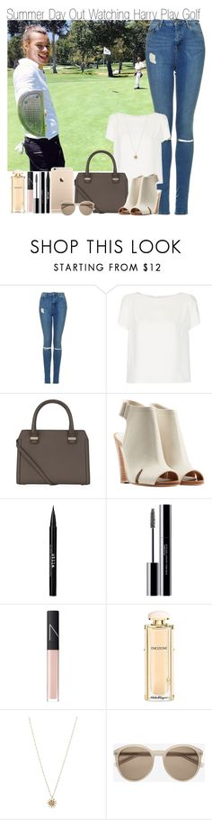 """""""Summer Day Out Watching Harry Play Golf"""" by elise-22 ❤ liked on Polyvore featuring Topshop, Victoria Beckham, rag & bone, Stila, shu uemura, NARS Cosmetics, Salvatore Ferragamo, ASOS and Yves Saint Laurent"""