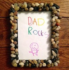 MACARONI CRAFT: DAD ROCKS PICTURE FRAME | Show Dad how much he's loved with a handmade frame!