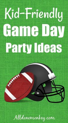 Kid-Friendly Game Day Party Ideas - All Done Monkey Fun Games For Toddlers, Activities For Autistic Children, Games To Play With Kids, Family Fun Games, Craft Activities For Kids, Kid Crafts, Monkey, Big Game, Party Ideas