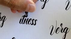 Brush Pen Lettering No.2. Left handed lettering using assorted brush pens and the pilot parallel pen. http://www.verg.com.au http://instag...