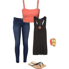 Comfy Coral by greenpotcamiemeek on Polyvore
