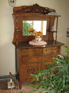 Antique Buffet Top