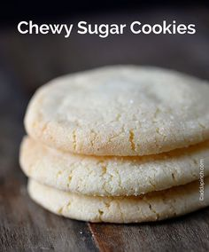 Chewy Sugar Cookies Recipe - The BEST and simplest sugar cookie! So great for making that last minute treat to take to school, work, a neighbor and more! A favorite! from addapinch.com