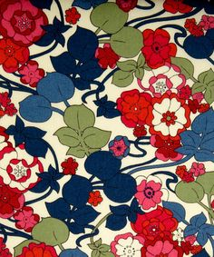 I adore Liberty of London fabric! Especially  the mixing of red and blue in this one.