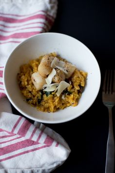 This recipe remix features a very special dish of scallops and risotto.