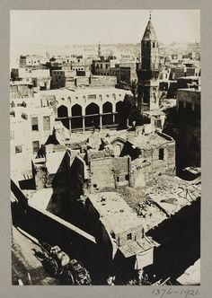 The mosque of Fatimid wazir Amir al-Salih Tala'i' seen from Bab Zuwayla, Cairo Mediterranean Architecture, National Art, History Of Photography, The V&a, Italian Renaissance, Book Projects, Victoria And Albert Museum, Historian, Cairo
