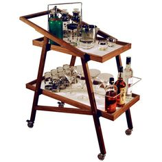 Arko Bar Cart ($1,199) ❤ liked on Polyvore featuring home, kitchen & dining, bar tools, bar, bar cart, food, furniture, interior design, white tray and drinks tray
