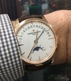 Vacheron Constantin Patrimony Moon Phase Retrograde Date - wrist