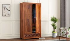 A multi-functional wardrobe with shelves and drawers of varied sizes aligned in it. Best suitable for all your needs.
