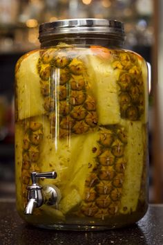 Habanero Pineapple infused Tequila from Urban Taco.
