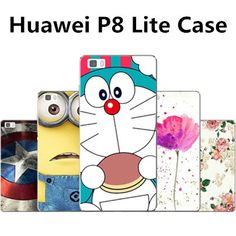 Huawei p8 lite case plastic New PC case for huawei p8 lite phone case 20 kinds cartoon huawei p8 lite plastic case cover
