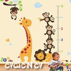 Jungle Wall Stickers Nursery Safari Stickers and Baby by evgieNev