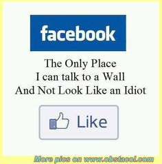 Funny Facebook Quotes   ... you can talk to a wall   Funny Pictures, Funny Images, Funny Quotes