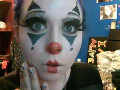 A cute clown look I did for Halloween tutorials on my channel. Cute Clown Makeup, Circus Makeup, Halloween Face Makeup, Halloween Ball, Holidays Halloween, Halloween Make Up, Halloween Ideas, Halloween 2017, Holiday Costumes