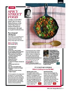 Readly - BBC Good Food - 17 - Good Food, the UK's food magazine, is a must for everyone who loves cooking and eating. Chickpea Recipes, Vegetarian Recipes, Indian Street Food, Bbc Good Food Recipes, Food Dishes, Spicy, Restaurant, Tea, Cooking