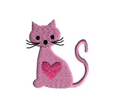 For Valentines Day or for a cat lover. Valentine Ideas, Valentines Day, Cat Stuff, Machine Embroidery Designs, Cat Lovers, Kitten, Snoopy, Stitch, My Favorite Things
