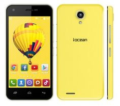 Iocean X1 smartphone use 4.5 inch screen, installed Android 4.4 OS, with MTK6892 quad core 1.3GHz processor, and has 1GB RAM, 8GB ROM, 5MP front + 8MP rear double cameras.