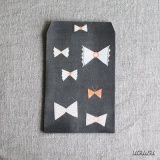 ai. Paper Pocket/Envelope {Bow Black} Pack of 4 * uguisu