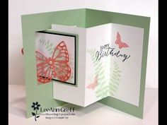 Butterfly Pop-Out Window Fun Fold card - YouTube