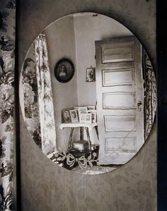 Wright Morris, Reflection in Oval Mirror, Home Place, 1947 Things that Quicken the Heart: Black & White - Mirrors