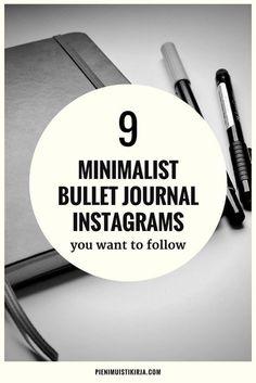 Minimalist bullet journal inspiration - pienimuistikirja.com