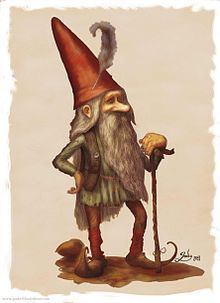 Tomtin- Germanic myth: little dwarf-like creatures that pulled travelers down and dragged children from their beds to beat them. they made up the army of Knecht Ruprecht, who was later Christianized into Santa Claus. accordingly, the tomtins were also later turned into Santa's little helpers, the elves.