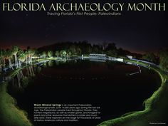 Florida Archaeology Month 2014, Tracing Florida's First Peoples: Paleoindians. Warm Mineral Springs Archaeological Site