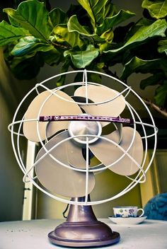 1950s Westinghouse fan. Had one of these at home; killer metal blades we used to dare each other to touch!