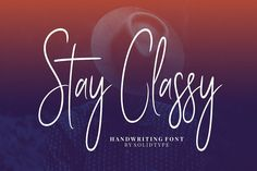 Say hello to Stay Classy Handwritten Script Font! This is a contemporary font with fashionable and elegant script style. You can use this font for your next projects such as blogging, social media, branding, wedding invites, cards and more. Check it out and enjoy for free!