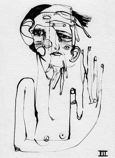 Black Ink (drawing series) on Behance Marina Gonzalez