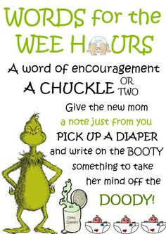 Dr Suess Words of Encouragement for Mum to Be