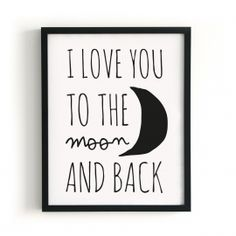 POSTER I LOVE YOU TO THE MOON