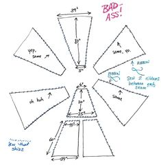 best tut i can find (DIY Teepee Pattern - ignore the colorful language. This is the one, but I'm going to re-do the pattern to make it a bit smaller child-sized.DIY Teepee Pattern-might be planning on putting one in the living room. Diy Tipi, Diy Teepee Tent, Kids Tents, Teepee Kids, Sewing For Kids, Diy For Kids, Crafts For Kids, Sewing Hacks, Sewing Crafts