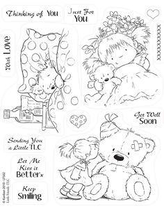 ~~pinned from site directly~~ . . .  THIS IS ACTUALLY A STAMP, BUT IF THE PIC IS PRINTED OFF IT COULD BE A CUTE COLOR PAGE FOR A LITTLE ONE.    Kanban clear rubber stamps - Little Friends - TLC