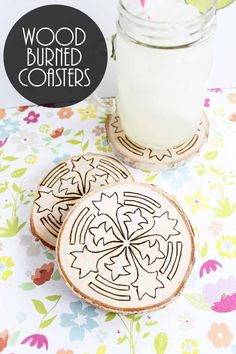 Love wood burning ideas? You will love making these simple DIY coasters!