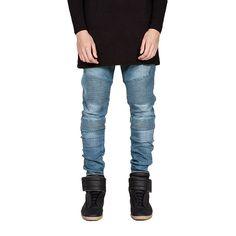 Cheap Hombres calientes pantalones vaqueros marca angustiado delgado elástico rasgados Jeans motorista hombres Hiphop hombres de vaqueros pitillo clásicos hombres de marca de los pantalones vaqueros de mezclilla, Compro Calidad Jeans directamente de los surtidores de China:       Hot Men Jeans Brand Distressed Slim Elastic Ripped Biker Jeans Men Hiphop Men Skinny Jeans Classic Bra