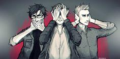 Outlast protagonists. Blake Langermann, Miles Upshur, & Waylon Park.