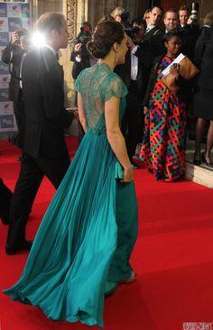 Buy Kate Middleton Green Lace Dress Olympics Gala Dress from celeblish ...