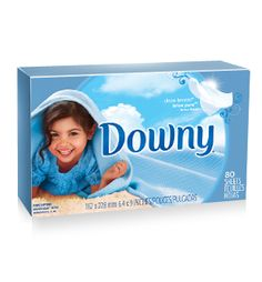Downy® Clean Breeze® fabric softener dryer sheets.