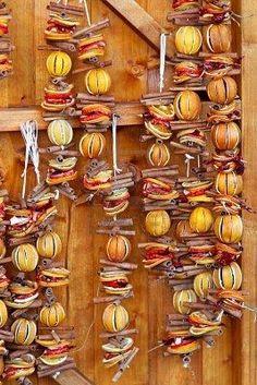 Dried orange and cinnamon sticks for holiday Christmas decoration:
