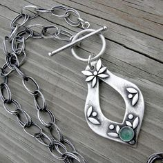 Lovely metal clay pendant.