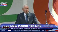 WATCH: Vice President Mike Pence Speech March For Life 2017 Washington DC - YouTube