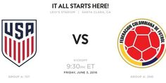 USA vs Colombia match schedule: TV coverage fixture date venue and time of 2016 Copa America Centenario opener