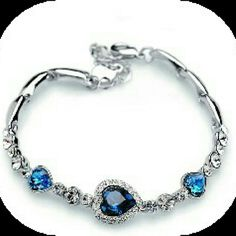 """NEW STAINLESS/CRYSTAL BRACELET New """"heart of the ocean"""" heart bracelet. Made of stainless and heart shape crystals. Beautifully designed and detailed. Jewelry Bracelets"""