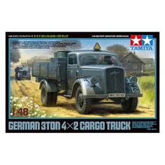 38.75$  Watch now  - OHS Tamiya 32585 1/48 German 4x2 3ton Cargo Truck Military AFV Assembly Model Building Kits