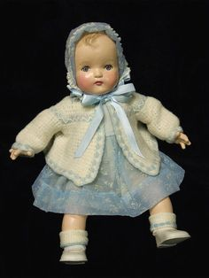 Vintage Madame Alexander composition baby doll, 1930's.