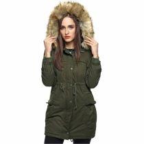 FINEJO mujeres caliente Fleece Parka de piel sintética de chaqueta gruesa capa encapuchada Outwear el sobretodo