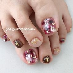 ガーネット☆|ネイルデザインを探すならネイル数No.1のネイルブック Pastel Nails, Cute Acrylic Nails, Toe Nail Art, Feet Nails, Us Nails, Mani Pedi, Manicure And Pedicure, Gel Toes, Toe Nail Designs