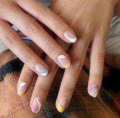 Pastel Nails, Cute Acrylic Nails, Pink Nails, Gel Nails, Nagellack Design, Nagellack Trends, Minimalist Nails, Nail Swag, Chic Nails